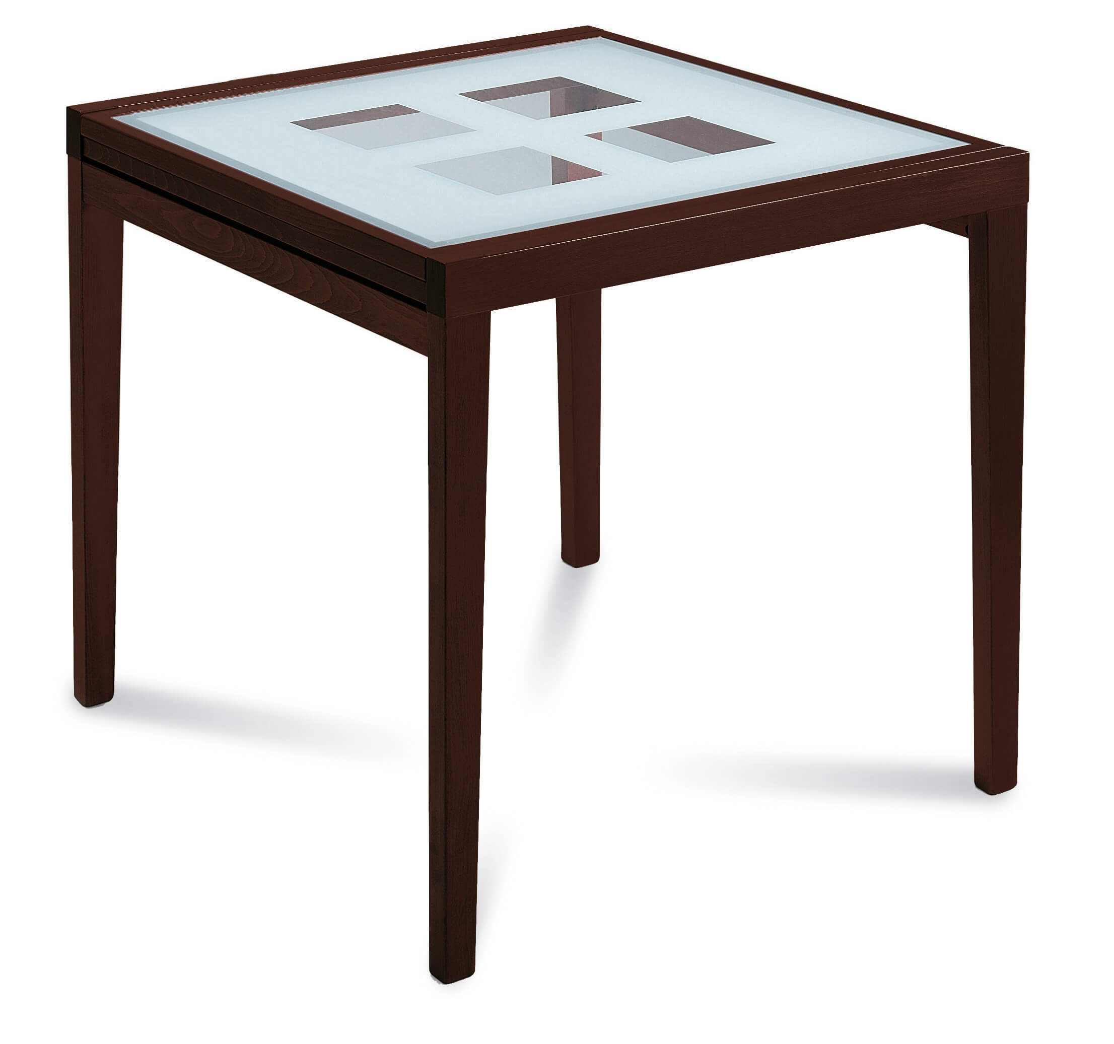 Poker-90 Square Extension Table by DomItalia, Italy