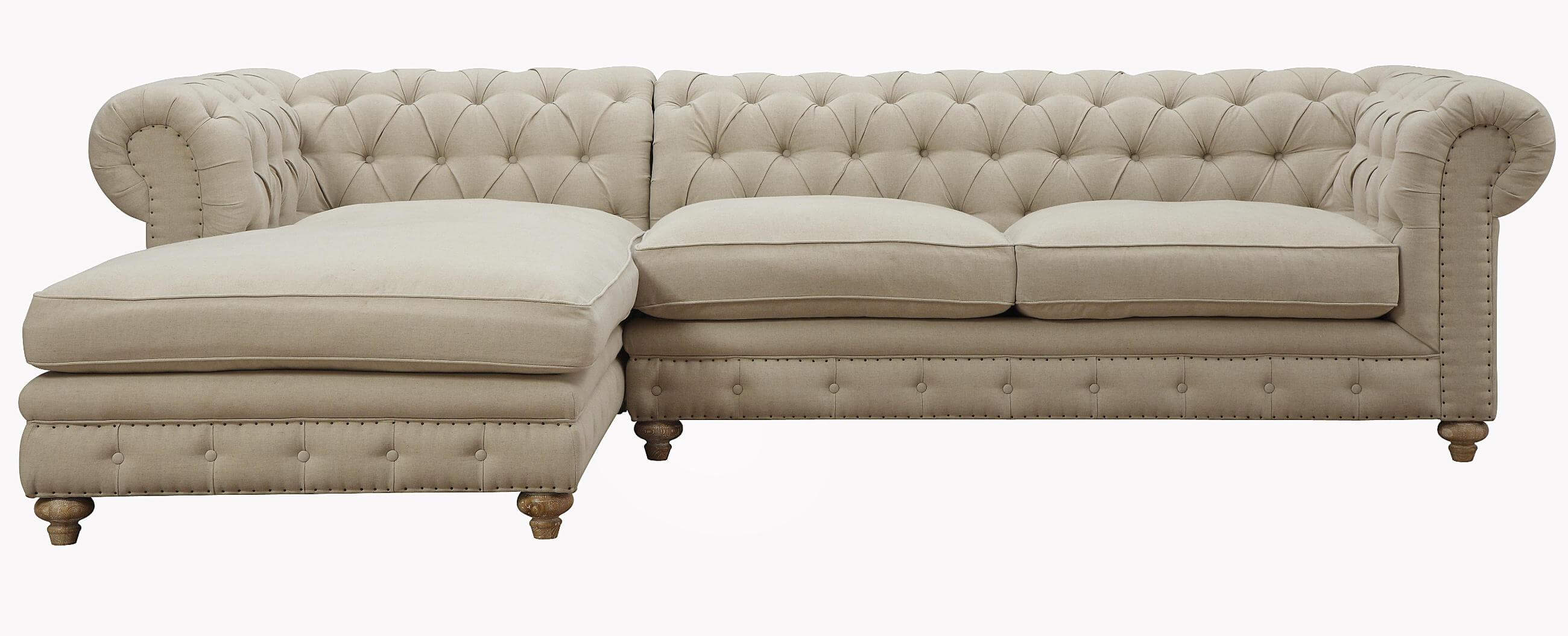 Oxford Beige Linen Sectional by TOV Furniture Buy line at Best