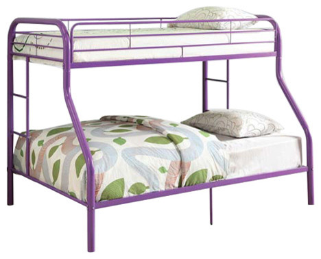 Tritan Full Twin Size Bunk Bed Purple Buy Online At Best Price