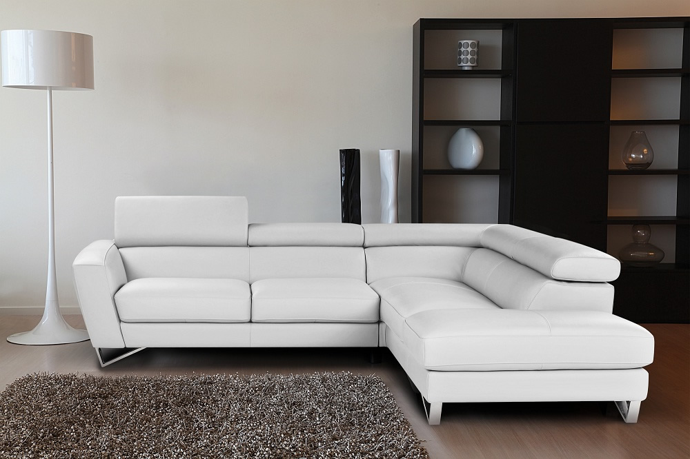 bianco white - Italian Leather Sofa