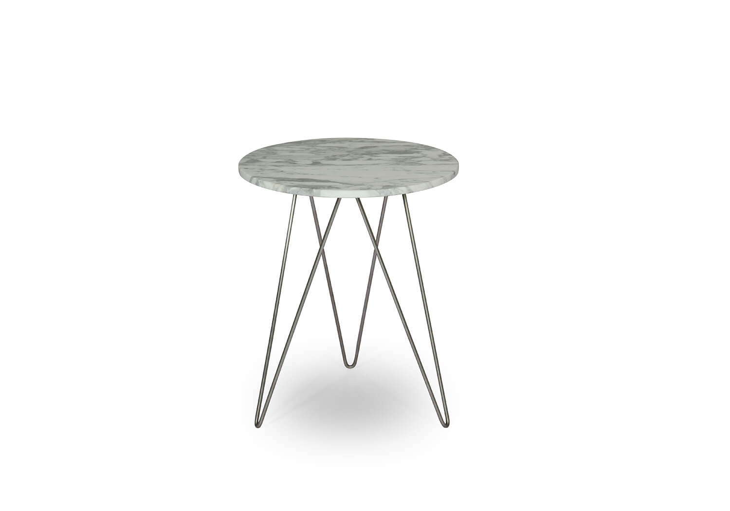 Marble Top + Stainless Steel Base