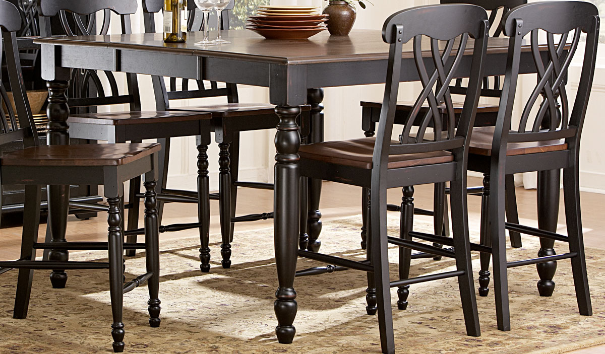 Ohana Country Wood Counter Dining Table