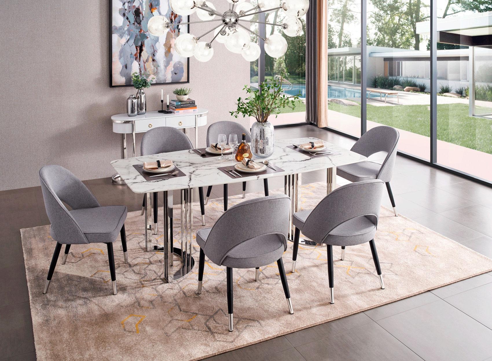 131 Modern Dining Room Set By Esf, Modern Dining Room Set