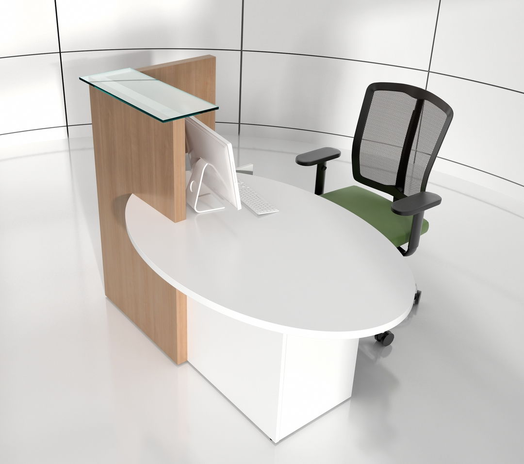 OVO Reception Desk, Left-Handed Counter by MDD Office