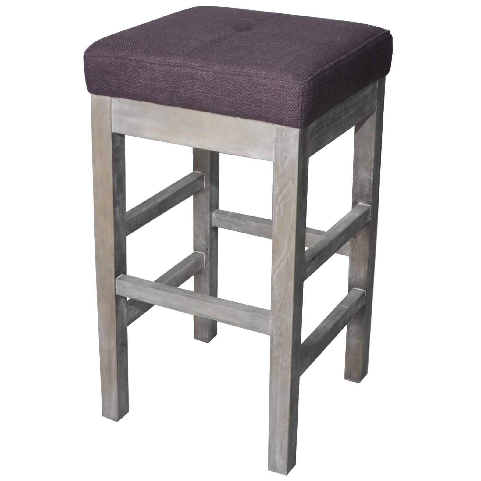 Valencia Backless Counter Stool Mystique Grey Legs