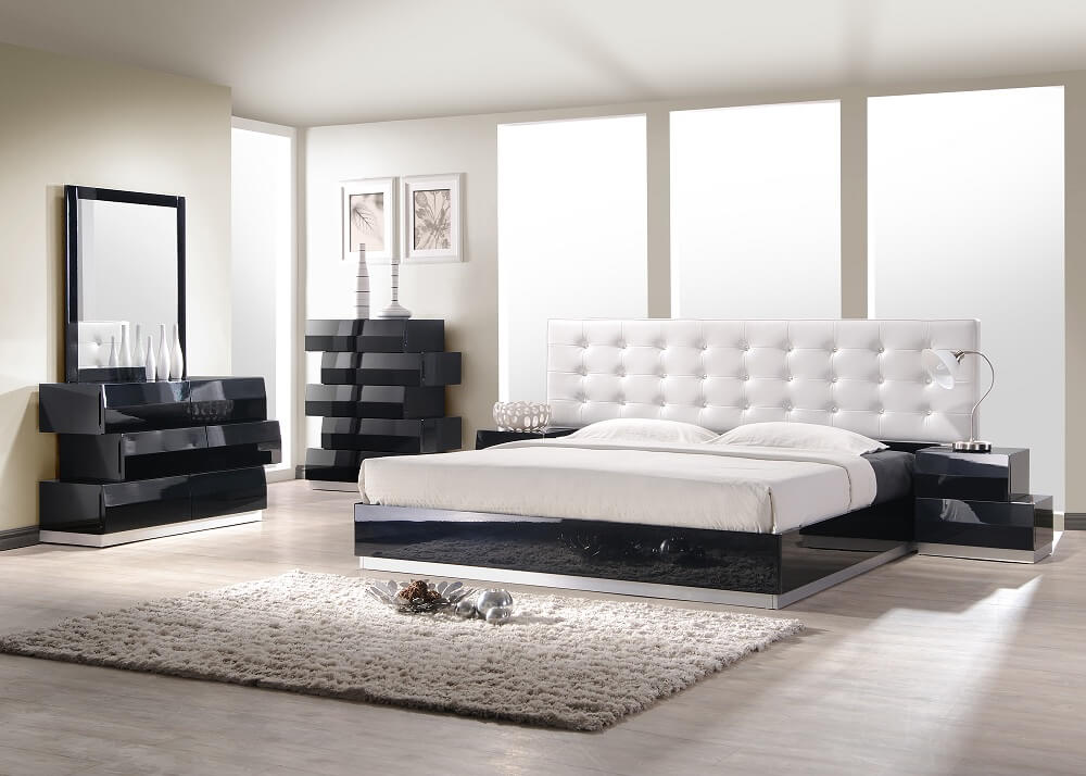 Milan Bedroom Set, Black Buy Online At Best Price   SohoMod