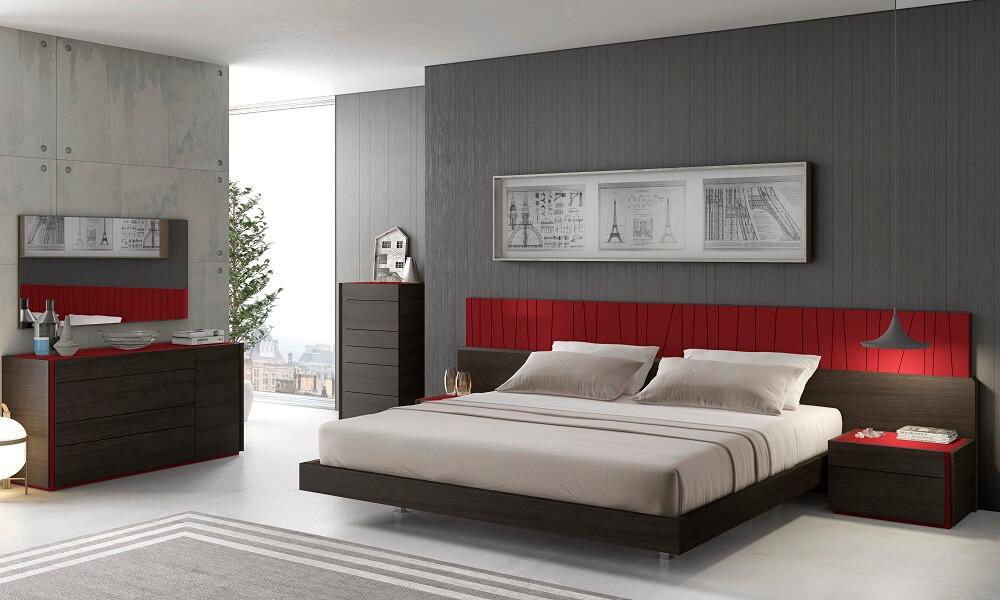 Red Bedroom Set. Red Porto Premium Bedroom Set  White Buy Online at Best Price SohoMod