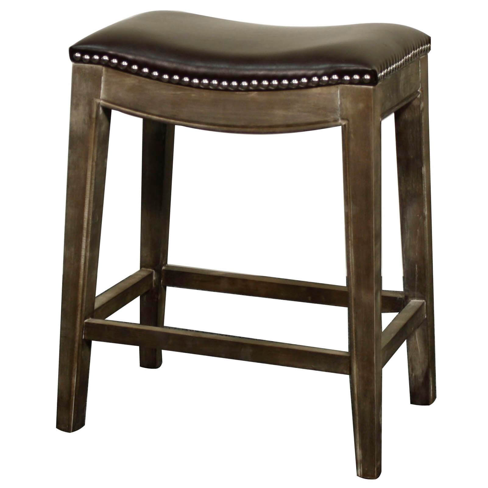 Elmo Bonded Leather Counter Stool, Mystique Grey Frame, Turquoise ...