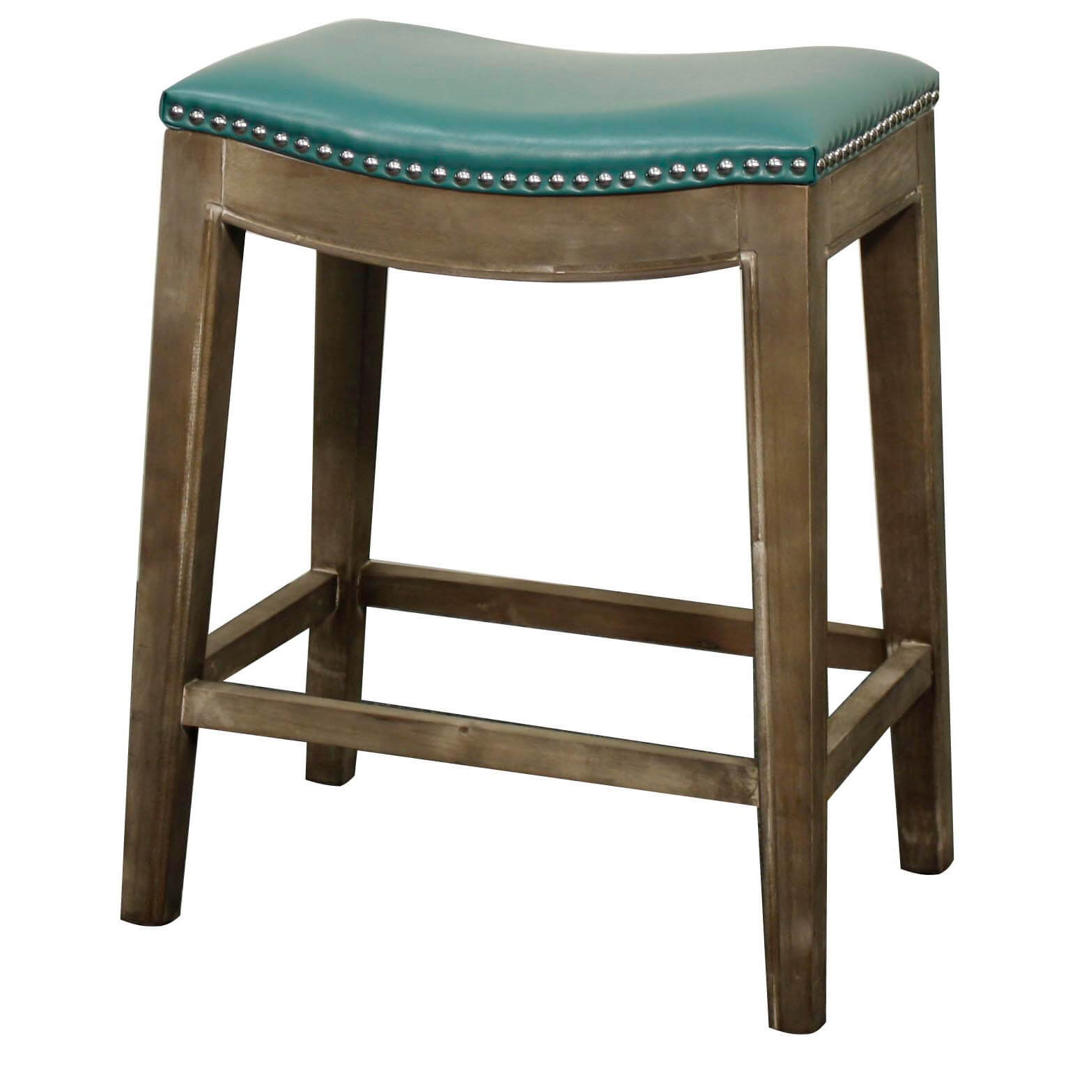 Elmo Bonded Leather Counter Stool Mystique Grey Frame