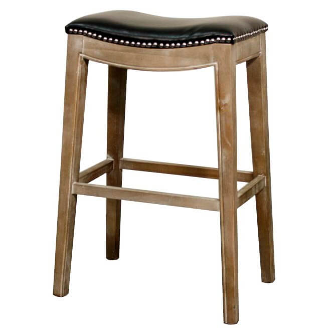 Elmo Bonded Leather Bar Stool Mystique Grey Frame Red By