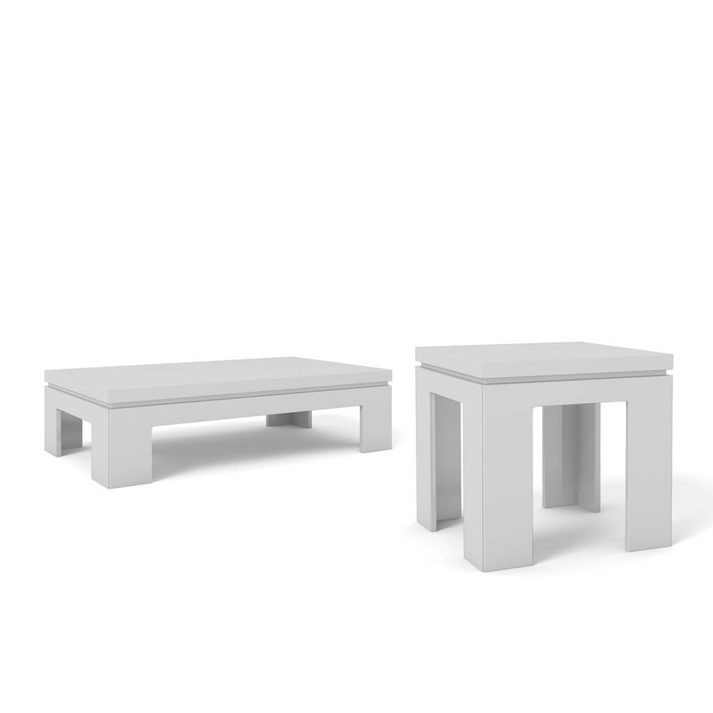Bridge 10 end table and bridge 20 coffee table white gloss buy bridge 10 end table and bridge 20 coffee table white gloss buy online at best price sohomod geotapseo Choice Image