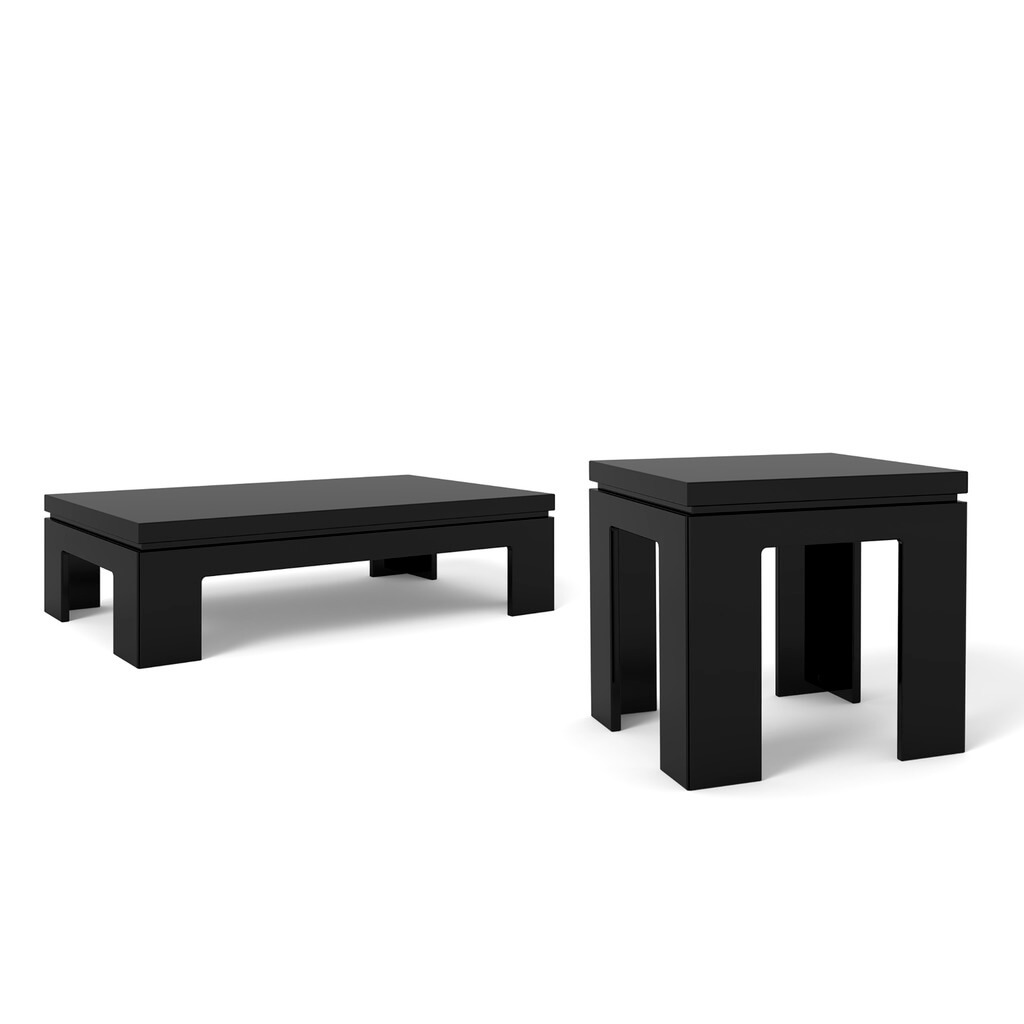 Bridge 10 end table and bridge 20 coffee table white gloss buy black gloss geotapseo Choice Image