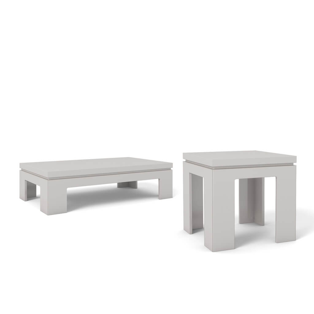 Bridge 1 0 End Table and Bridge 2 0 Coffee Table White Gloss Buy