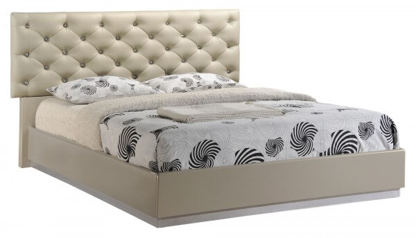grace queen size bed by global furniture usa. Black Bedroom Furniture Sets. Home Design Ideas