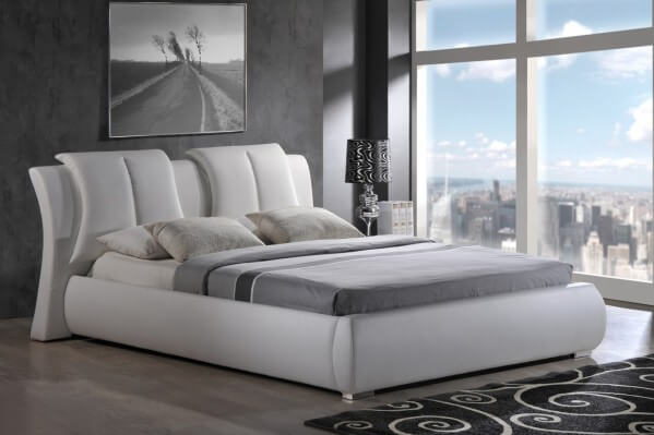 8269 King Size Bed, White By Global Furniture USA