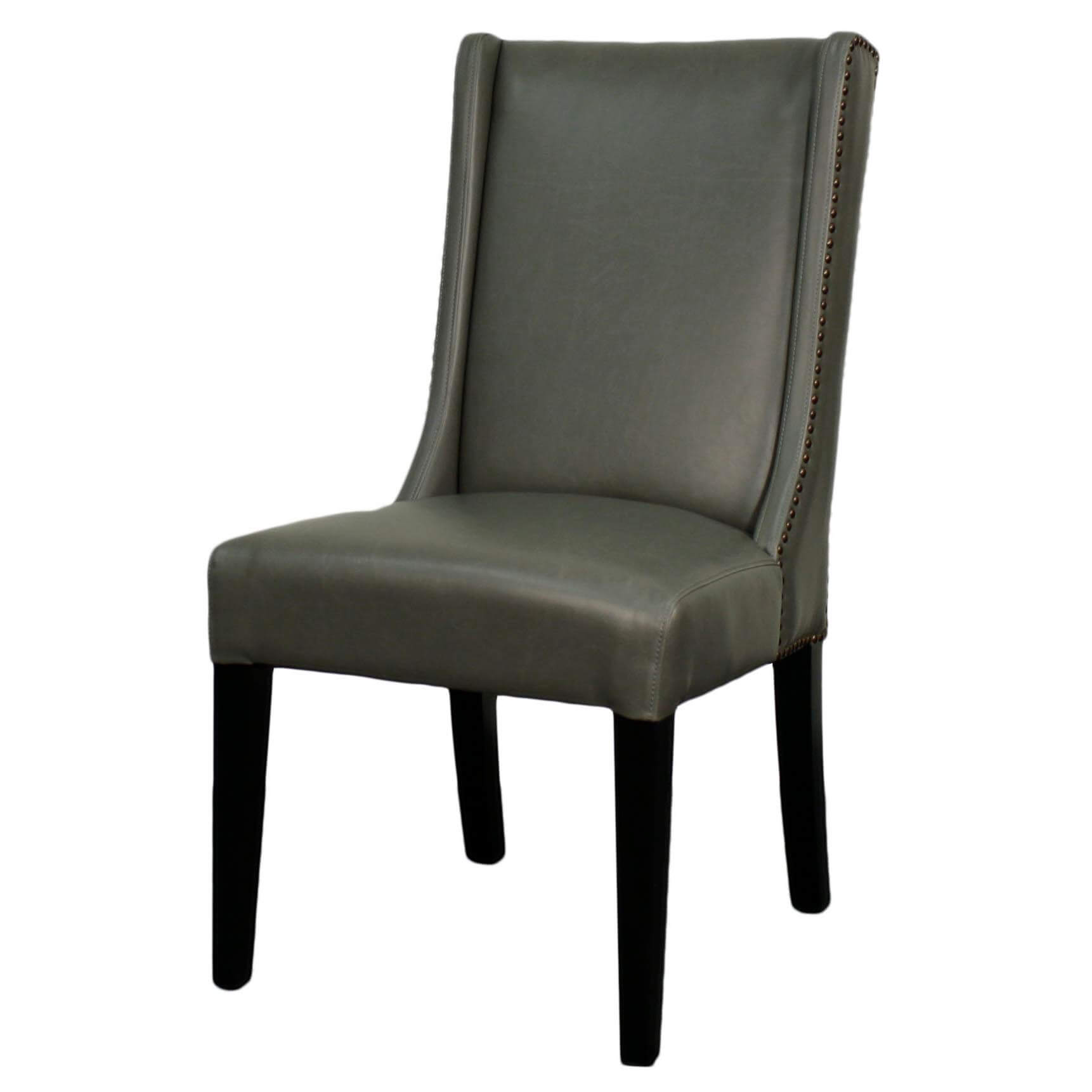 Holden Bonded Leather Dining Chair Black Legs Vintage