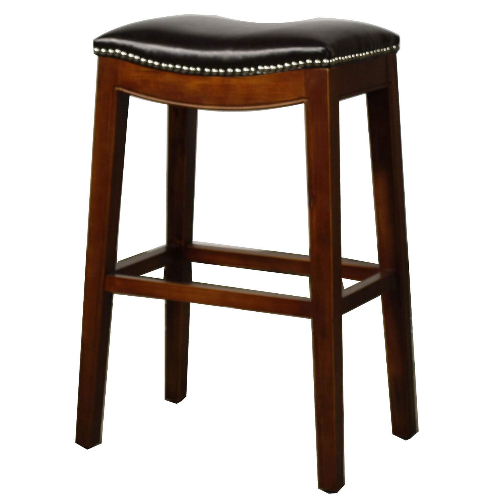 swivel stools bar stool leather red brown p hd burrell hillsdale dark furniture