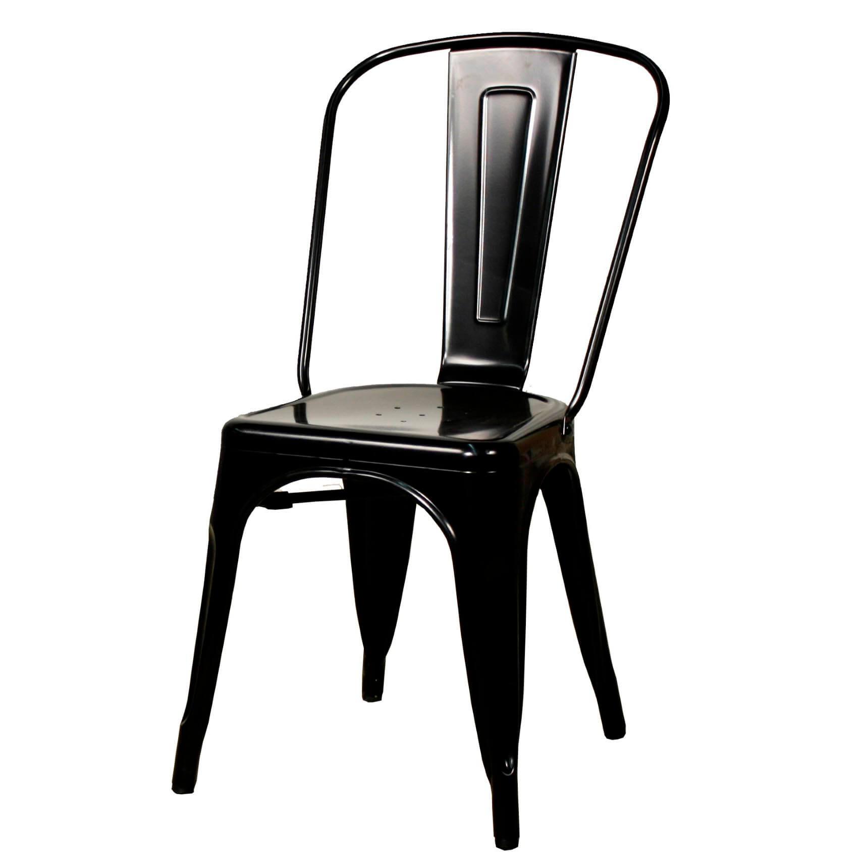 Metropolis Metal Side Chair Distressed White Set of 4 Buy line
