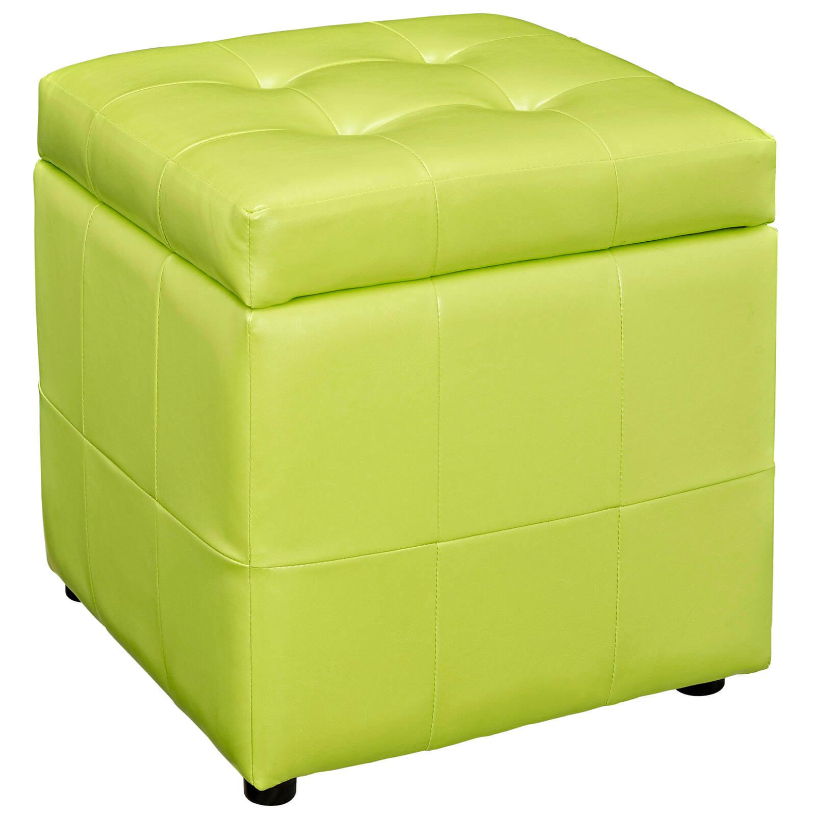 Volt Storage Ottoman, Light Green