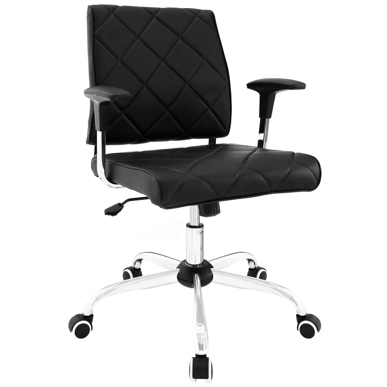 Lattice Vinyl fice Chair White Buy line at Best Price SohoMod