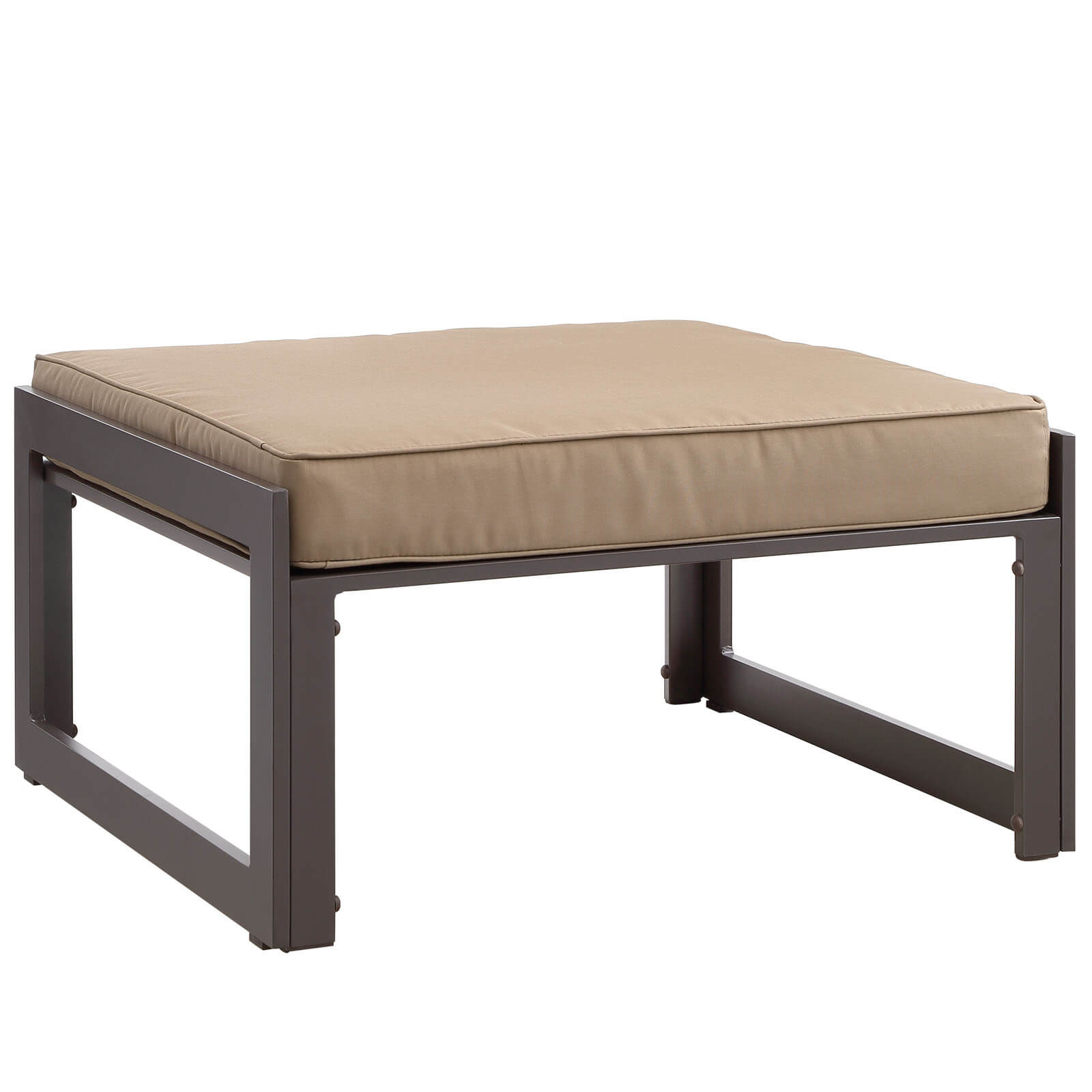Fortuna Outdoor Patio Ottoman Gray Buy line at Best Price SohoMod