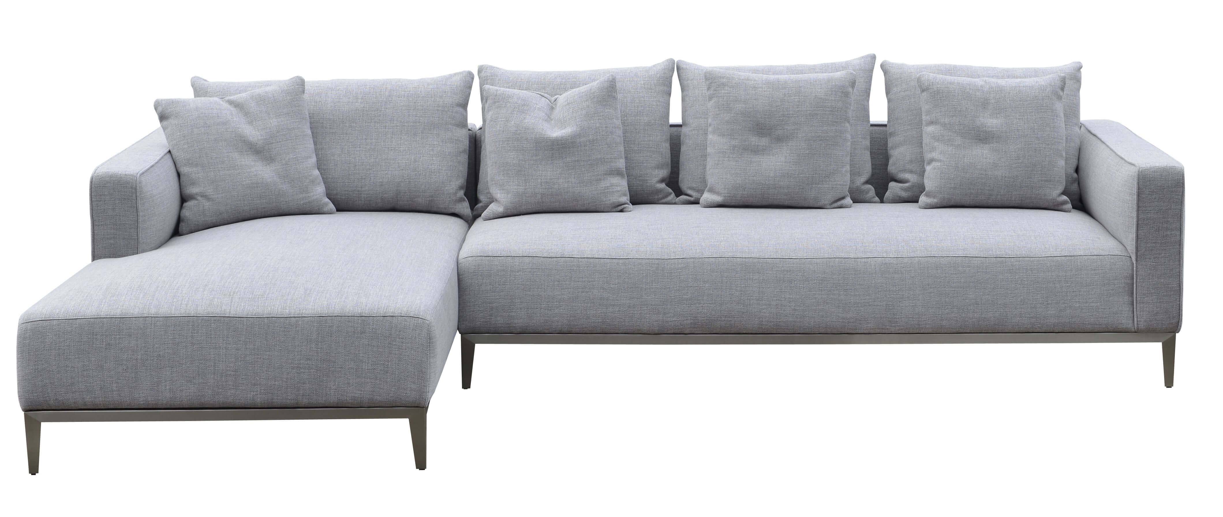 Marvelous California Sectional Small Right Arm Chaise Black Base Grey Tweed Download Free Architecture Designs Scobabritishbridgeorg