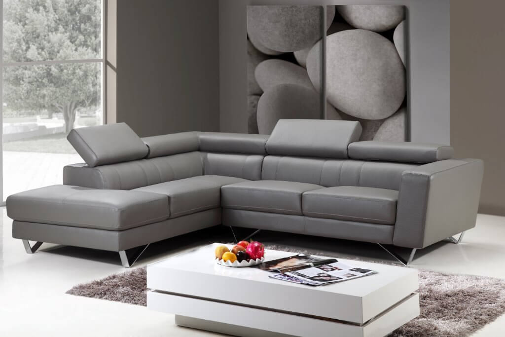 Sf6201 Sectional Sofa Right Arm Chaise Facing Grey By At