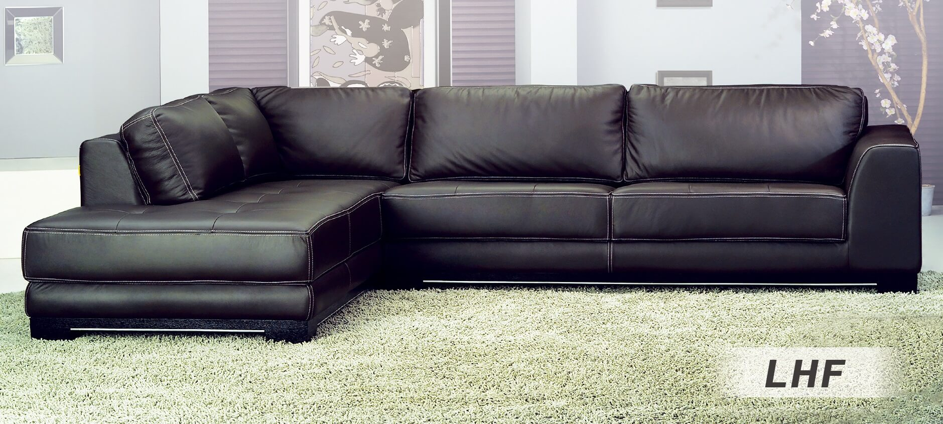 Sf6573b Sectional Sofa Left Arm Chaise Facing Brown By