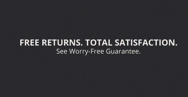 Worry-Free Guarantee Shopping. Easy Returns.